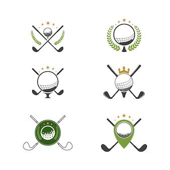 Ícone do esporte de golfe projeto do ícone do modelo de ilustração vetorial
