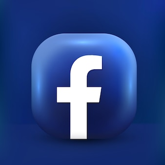 Ícone do facebook 3d estilo fofo mídia social