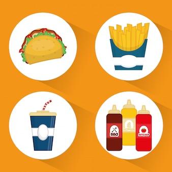 Ícone do fast food