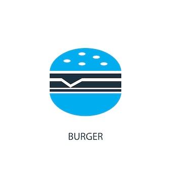 Ícone do hambúrguer. ilustração do elemento do logotipo. desenho de símbolo de hambúrguer de 2 coleção colorida. conceito simples de hambúrguer. pode ser usado na web e no celular.