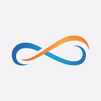Ícone do infinito, design de modelo de vetor