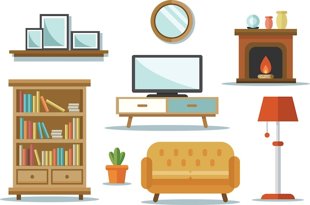 Ícone do interior da casa