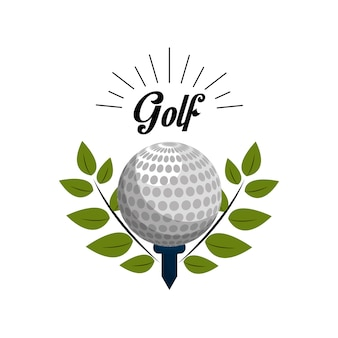 Ícone do jogo de golfe emblema