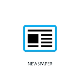 Ícone do jornal. ilustração do elemento do logotipo. projeto do símbolo do jornal de 2 coleção colorida. conceito simples de jornal. pode ser usado na web e no celular.