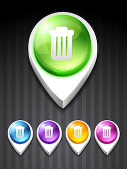 Ícone do lixo do vetor design arte