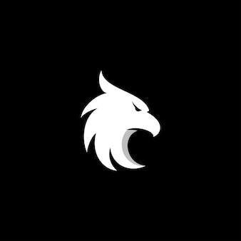 Ícone do logotipo da águia design vetor cabeça de falcão