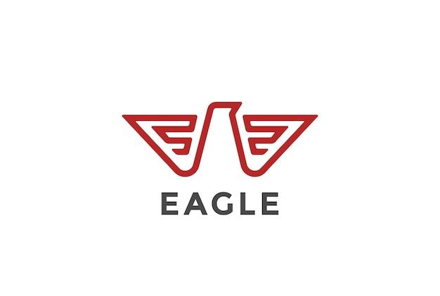 Ícone do logotipo da águia. estilo heráldico.