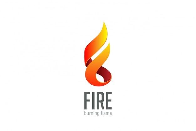 Ícone do logotipo da chama de fogo