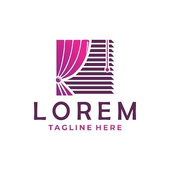 Ícone do logotipo da cortina