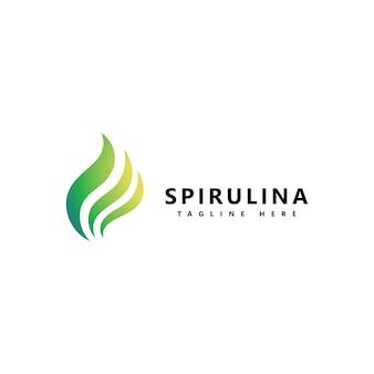 Ícone do logotipo da espirulina. alimentos orgânicos saudáveis.