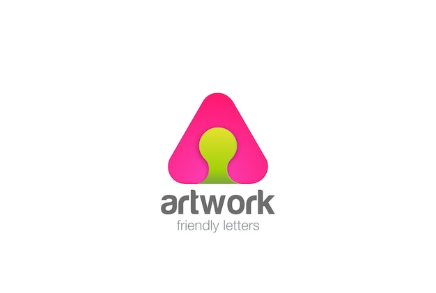 Ícone do logotipo da letra a. estilo linear.
