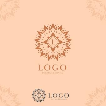 Ícone do logotipo da mandala de flor abstrata da letra l