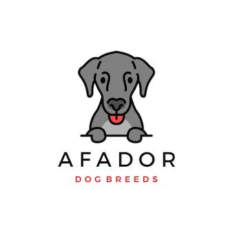 Ícone do logotipo da raça de cachorro afador