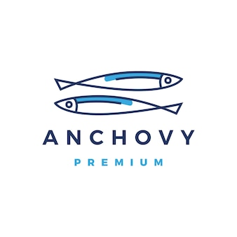 Ícone do logotipo de anchova