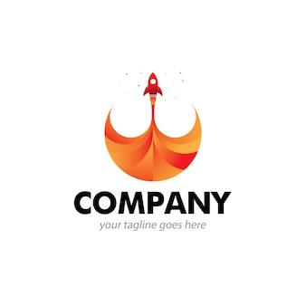 Ícone do logotipo de foguete