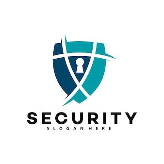 Ícone do logotipo de segurança isolado