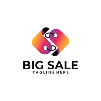 Ícone do logotipo de venda