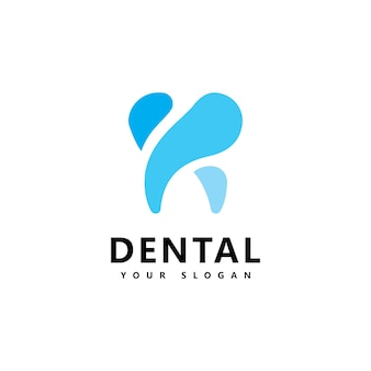 Ícone do logotipo dental design vector