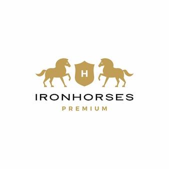 Ícone do logotipo do brasão de armas do cavalo