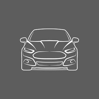 Ícone do logotipo do carro ilustração vetorial de design de modelo