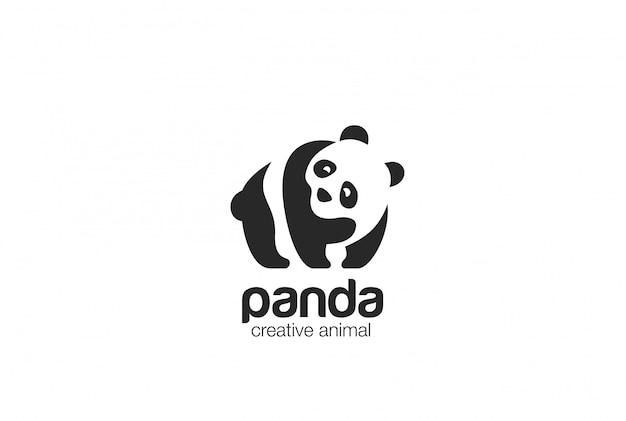 Ícone do logotipo do panda Vetor grátis