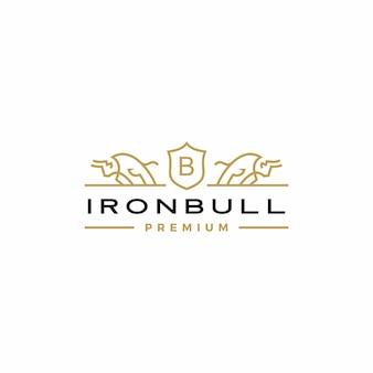 Ícone do logotipo do touro brasão de armas