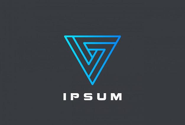 Ícone do logotipo em loop do triângulo infinito