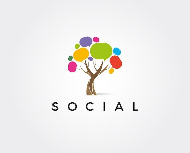 Ícone do logotipo para conversas de mídia trocando informações