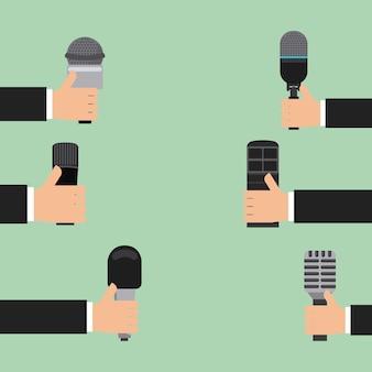 Ícone do microfone, gráfico de vetor ilustração eps10