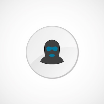 Ícone do ofensor 2 colorido, cinza e azul, emblema do círculo