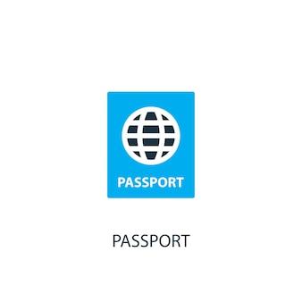 Ícone do passaporte. ilustração do elemento do logotipo. desenho do símbolo do passaporte de 2 coleções coloridas. conceito simples de passaporte. pode ser usado na web e no celular.