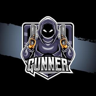 Ícone do personagem do artilheiro do logotipo esport