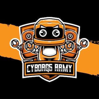 Ícone do personagem do logotipo cyborgs army esport