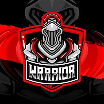 Ícone do personagem guerreiro do logotipo esport