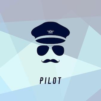 Ícone do piloto em estilo simples. ilustração do símbolo de pessoas.