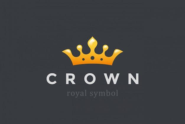 Ícone do rei coroa logotipo.
