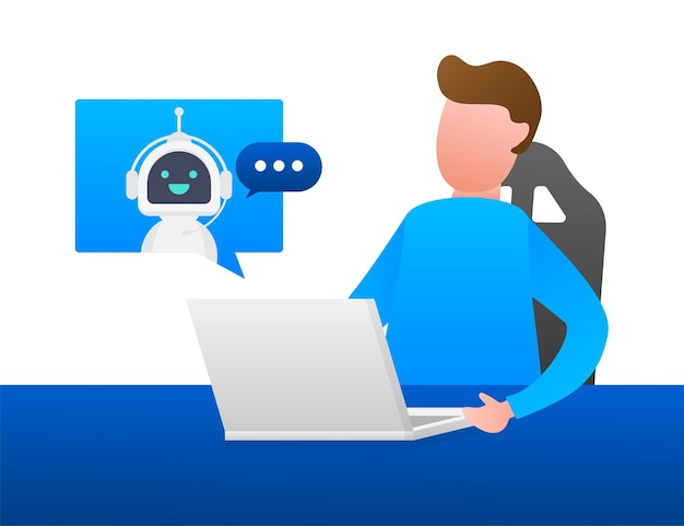 Ícone do robô. projeto de sinal de bot. conceito de símbolo do chatbot. bot de serviço de suporte de voz. bot de suporte online. ilustração vetorial.