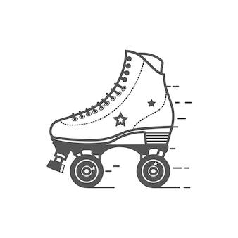 Ícone do skate de rolo