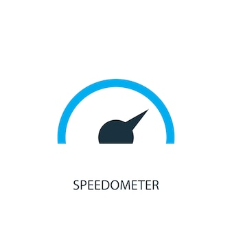 Ícone do velocímetro. ilustração do elemento do logotipo. projeto do símbolo do velocímetro de 2 coleção colorida. conceito simples do velocímetro. pode ser usado na web e no celular.