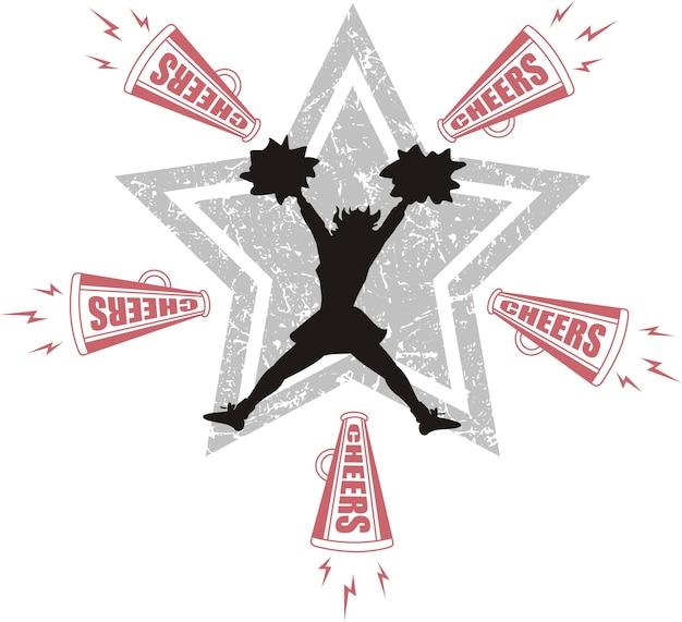 Ícone do vetor de cheerleaders
