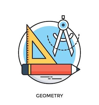 Ícone do vetor plano da geometria