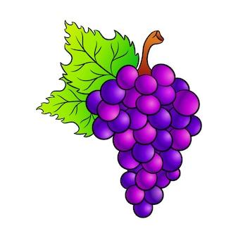 Ícone dos desenhos animados de uvas.