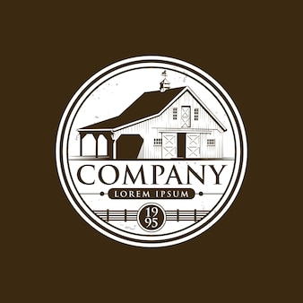 Ícone e logotipo de fazenda vintage