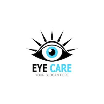 Ícone e símbolo de saúde para cuidados com os olhos