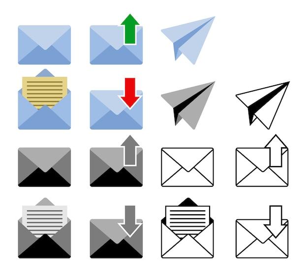 Ícone enviado e de e-mail