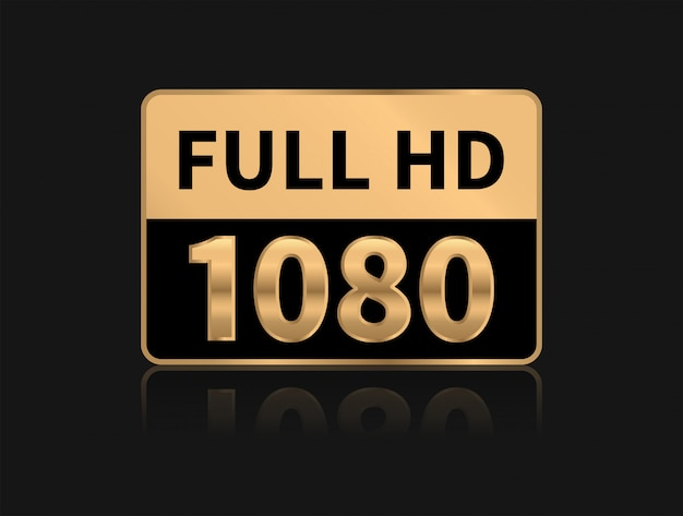 Ícone full hd. resolução 1080p.
