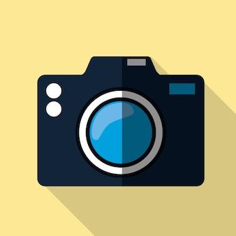 Ícone gráfico de câmera de fotografia