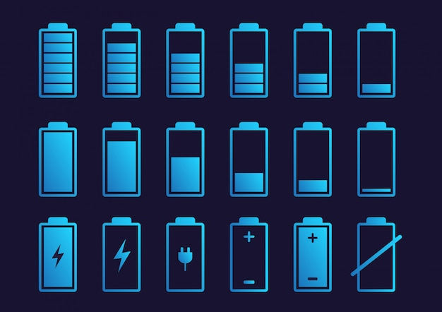 Ícone indicador de carga da bateria.
