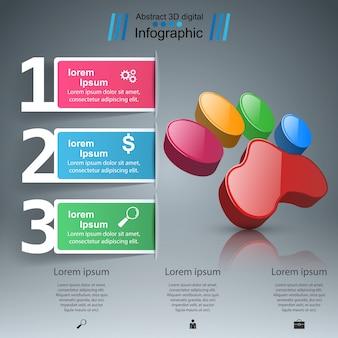 Ícone infográfico e de negócios de pata de animal.