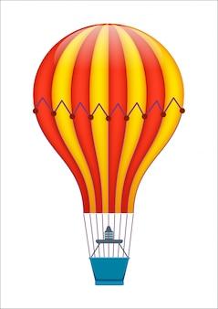Ícone isolado de balão de ar colorido